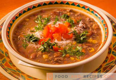 Meat soup - proven recipes. How to properly and cook meat soup.