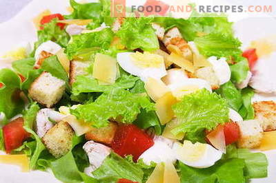 Caesar salad - the right recipes and ingredients. How to cook sauce (dressing) for the salad