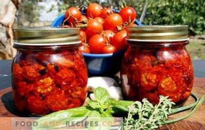 Dried tomatoes for the winter - the most it! Simple and affordable methods of stocking dried tomatoes for the winter
