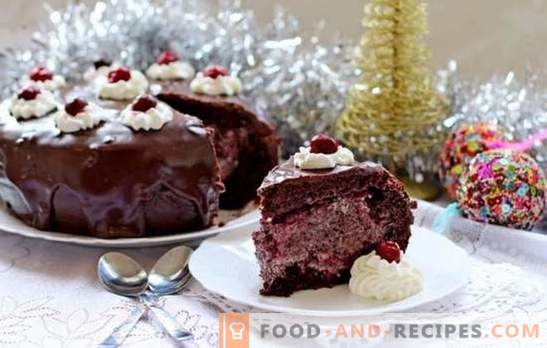 Chocolate cake with cherry - no comment! Author's recipes: improvisation on the theme of chocolate cake with cherry
