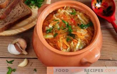 Cabbage in a pot: a retrospective, as the basis of modern Russian cuisine. Recipes stewed cabbage cabbage - simple and tasteful!