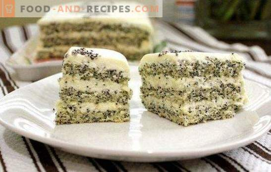 Cake with poppy seeds is an unusual and incredibly tasty dessert. Simple and original poppy cake recipes