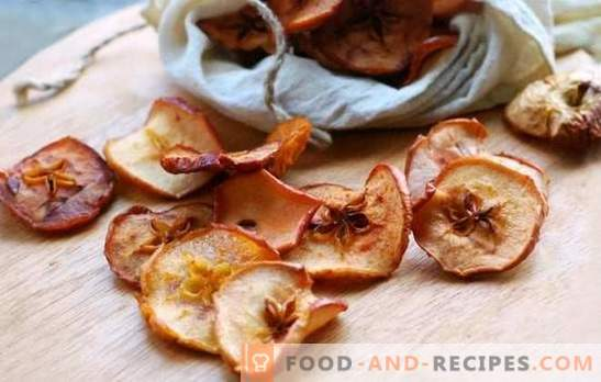 Dried apples in the oven - we keep forever the taste of summer. Cooking dried apples in the oven with cinnamon, cardamom, cherry branches