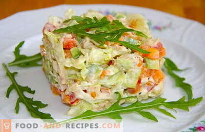 Boiled chicken salads are the best recipes. How to properly and tasty cooked salad with boiled chicken.