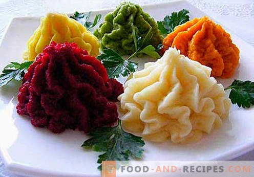 Vegetable puree - the best recipes. How to properly and tasty cooked vegetable puree.