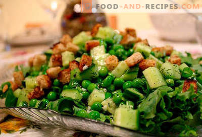 Salads with canned peas - the top five recipes. How to properly and deliciously prepare salads with canned peas.