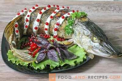 Stuffed pike - the decoration of the holiday table!