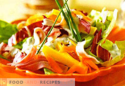 Salads with sour cream - a selection of the best recipes. How to properly and tasty salads with sour cream.