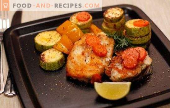 Cod steak in the oven - low calorie, tasty, stylish. How to cook cod steak in the oven with vegetables, sauce, mushrooms, wine