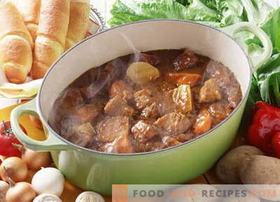 Pork stew - the best recipes. How to properly and tasty cook stew pork.