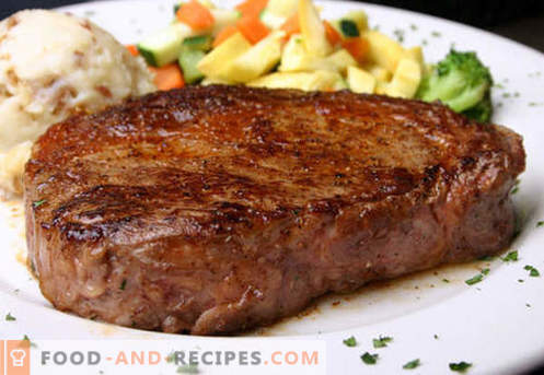 Beefsteak - the best recipes. How to properly and tasty cook steak beef, chopped and minced.