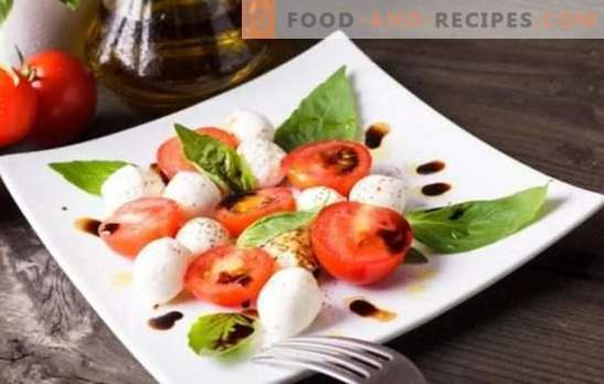 Italian appetizers - the world of harmonious combinations. Recipes simple and delicious Italian appetizers from cheese, eggplant, tomatoes, meat and chicken