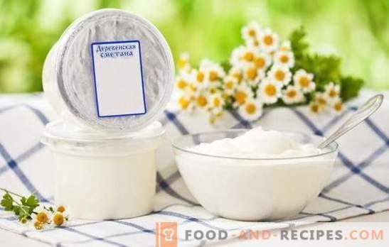 Sour cream cake cream - useful and versatile. How to mix ingredients in cream cream cake?