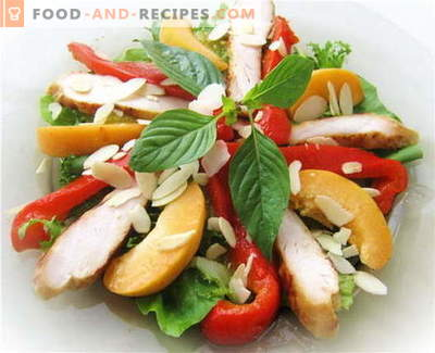 Salad with chicken and bell pepper - the best recipes. How to properly and tasty to prepare a salad with chicken and bell pepper.