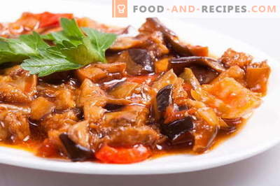 Stewed eggplants are the best recipes. How to properly and tasty cook braised eggplant.