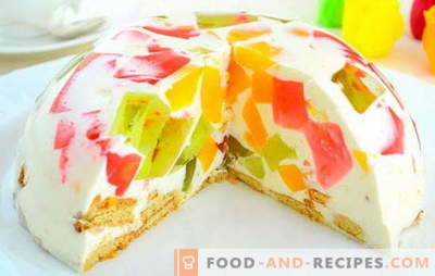"Cake ""Broken Glass"" with sour cream - a variety of flavors. The history of the appearance and the recipe for an exquisite cake"