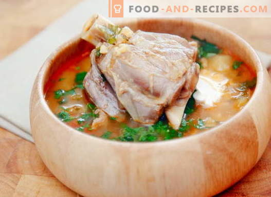 Mutton soup - the best recipes. How to properly and tasty cook lamb soup.
