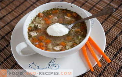 "Universal ""diet"": buckwheat chicken soup. Recipes buckwheat soups with chicken, mushrooms, cereals or vegetables"