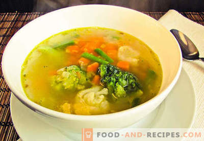 Vegetarian soup - proven recipes. How to cook vegetarian soup and tasty.