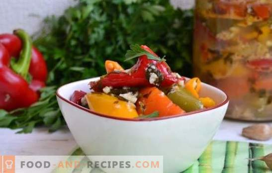 Peppers with garlic - the right combination! Recipes for garnishes and blanks for the winter of pepper and garlic