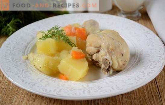 How to stew potatoes with chicken in a slow cooker: a great dinner in half an hour! Step-by-step photo-recipe of chicken stew with potatoes in a slow cooker