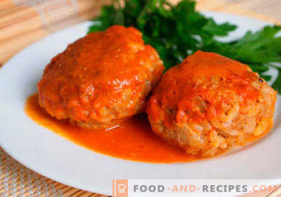 Meatballs with rice - proven recipes. How to properly and tasty cooked meatballs with rice.
