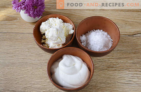 Curd sour cream: an independent dish and baking decoration. Step by step author's photo recipe cream of sour cream and cottage cheese