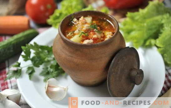 Soup in the pot in the oven - the result is surprising! Recipes of soups in pots in the oven: vegetable, meat, chicken, mushroom