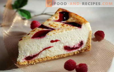 What makes a homemade cheesecake: mascarpone, philadelphia or ricotta? New recipes for juicy cheesecake at home