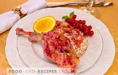 Duck legs - recipes of the best dishes. All the secrets and tricks of cooking duck legs in the oven, multicooker and on the stove