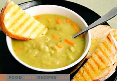 Pea puree - the best recipes. How to properly and tasty cook pea puree.