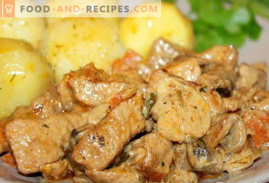 Pork with mushrooms - the best recipes. How to properly and tasty cook pork with mushrooms.