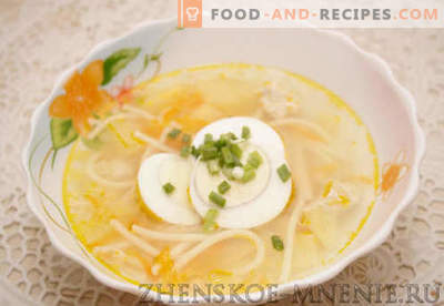 Chicken Soup - Recipe with photos and step by step description