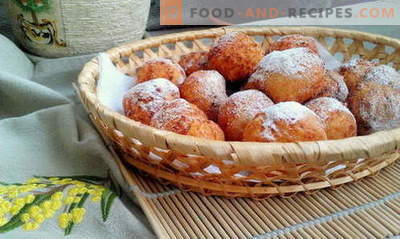 Cheese balls - the best recipes. How to properly and tasty cook curd balls.