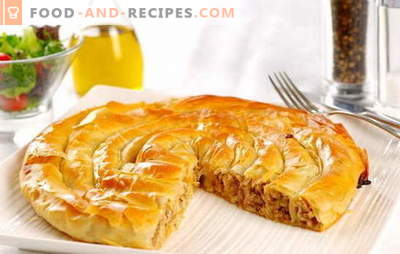 Recipes of burek (burek). Specificity of production and a variety of components required for baking burek
