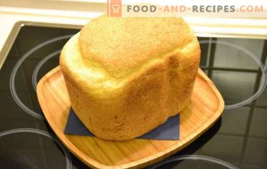 White bread in a bread maker - classic and with various additives. White bread with raisins, honey, carrots, garlic - recipes for breadmaker