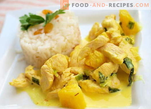Curry Chicken - the best recipes. How to properly and tasty cook curry chicken.