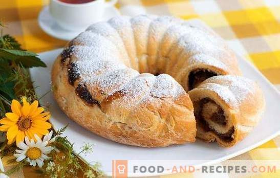 Roll with raisins - for everyday and festive table. The best recipes for rolls with raisins: yeast, sand, puff, biscuit