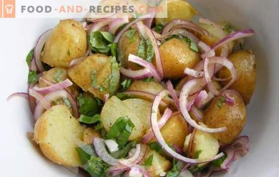 Cooking potatoes with onions in the oven - in Ukrainian, Italian, royally and peasant. Recipes potatoes with onions in the oven