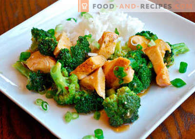 Chicken with broccoli - the best recipes. How to properly and tasty cook chicken with broccoli.