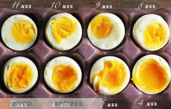 How to cook soft-boiled eggs, hard-boiled, in a bag, poached egg. How much to boil eggs after boiling water