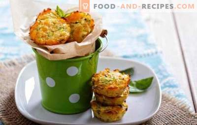 Zucchini muffins with sausage - an unusual snack! Zucchini muffins with sausage and bacon, cheese, carrots, garlic