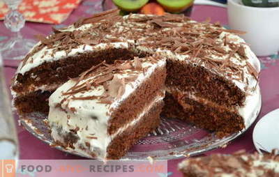 Cake on kefir - recipes for delicious treats. How to quickly and tasty cook a cake on kefir at home
