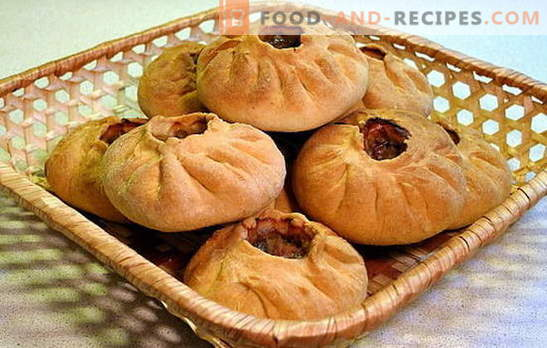 Vak-belyash - a juicy pie for a couple of bites! Recipes of different vac-whites: with meat, potatoes, rice, cabbage, mushrooms