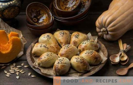 Samsa with a pumpkin - juicy triangles! Recipes of Uzbek and simple samsa with pumpkin from different types of dough