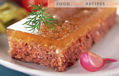 Beef jelly - transparent yummy. Classic and quick recipes for cooking beef aspic from shank, with chicken
