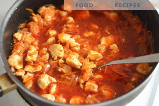 Chicken goulash - the best recipes. How to properly and tasty cook goulash from chicken.