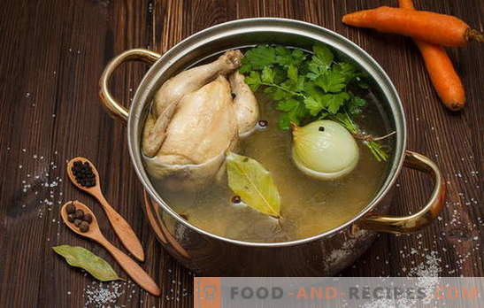 How to boil broth for soup, soup, sauces and other dishes. Recipes: how to cook chicken broth, beef, fish, pork, bone