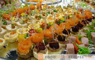 Snacks: the rules of taste. Ideas for making quick snacks for expensive but unexpected guests