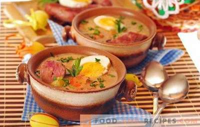 Smoked sausage soup - a full first course